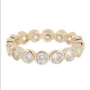 Judith Jack 10k Gold Round Bezel Crystal Ring